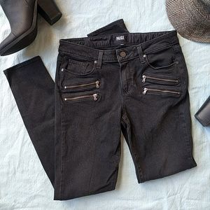 PAIGE Edgemont Ultra Skinny Jeans Black Fog 30